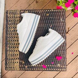 Zara Platform Striped Sneakers